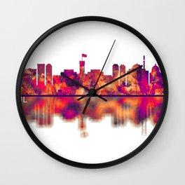 Kabul Afghanistan Skyline Wall Clock