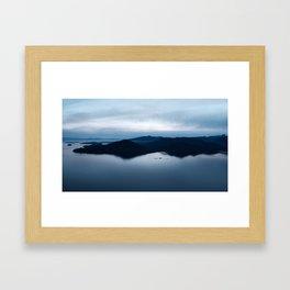 Blue Island Waters Framed Art Print