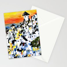 Abstract Santorini, Greece Landscape Stationery Cards