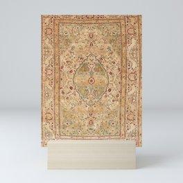 Silk Tabriz Azerbaijan Northwest Persian Rug Print Mini Art Print
