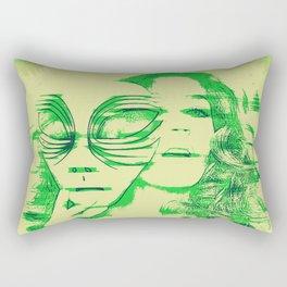 Slip of the Mask Rectangular Pillow