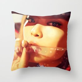 Jennie - Black Pink (Square Two) Throw Pillow