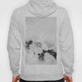Black And White Blossoms Hoody