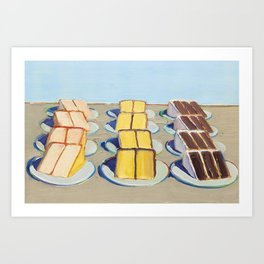 Classical Masterpiece Cake Rows, 1920 Art Print