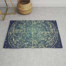 Stars Constellations Map Rug