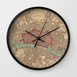 Vintage Map of London England (1815) Wall Clock