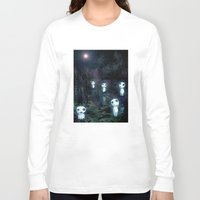 kodama Long Sleeve T-shirts featuring Princess Mononoke - The Kodama by pkarnold + The Cult Print Shop