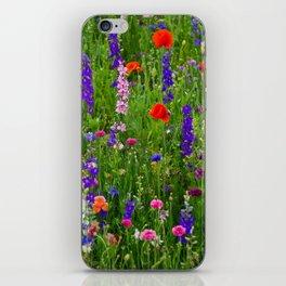 Close-up Wildflowers iPhone Skin