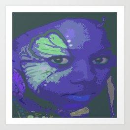 Indie Blue Art Print