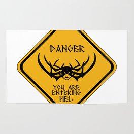 Danger You Are Entering Hel Rug