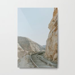 Through the mountains Metal Print