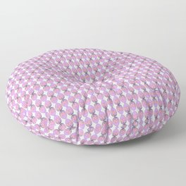 Egg and Pink Bow 01 Floor Pillow