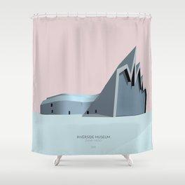 Riverside Museum Zaha Hadid Shower Curtain