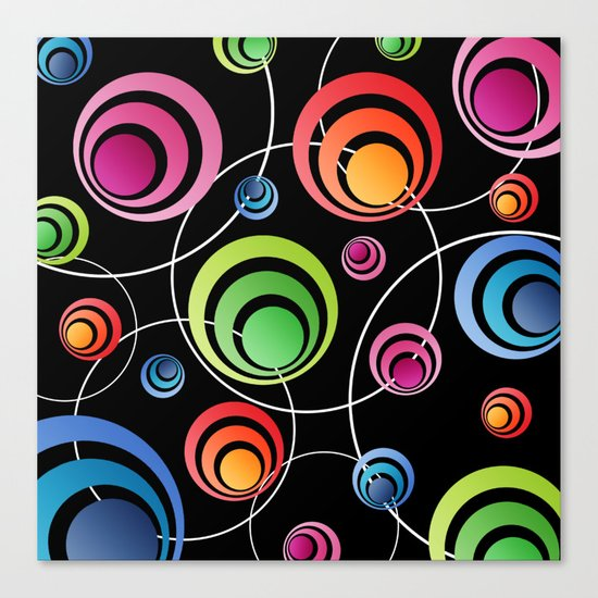 Circles In Circles. Canvas Print