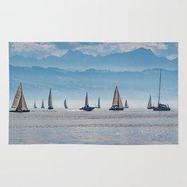 Sailboats (Lake Constance, Germany) Rug