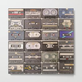 Cassette Tape Wall Retro Decor Tapes Metal Print