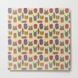 Little Owls Metal Print