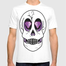 Diemun' Eyes White MEDIUM Mens Fitted Tee