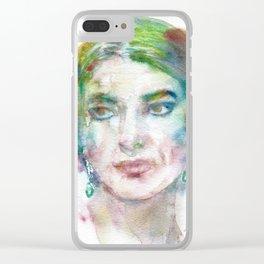 MARIA CALLAS - watercolor portrait Clear iPhone Case