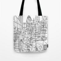 london Tote Bags featuring London! by David Bushell