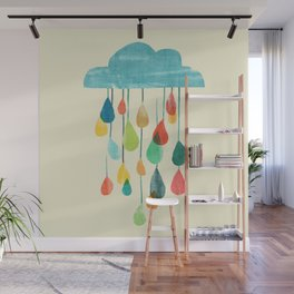 cloudy with a chance of rainbow Wall Mural