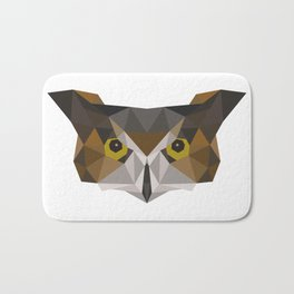 Owl head geometric polygon gift idea hipster Bath Mat