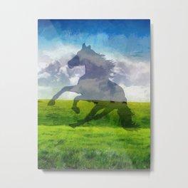 Horse fantasy Metal Print