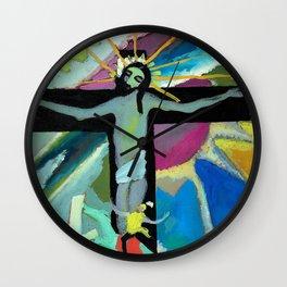"Wassily Kandinsky ""Crucified Christ"" (1907) Wall Clock"