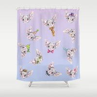 rio Shower Curtains featuring Rio Costumes  by Brettisagirl