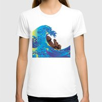 hokusai T-shirts featuring Hokusai Rainbow & Moai by FACTORIE