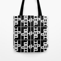 hip hop Tote Bags featuring HIP HOP by Erin Thomas