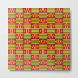 African kente pattern Metal Print