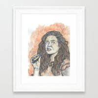 oitnb Framed Art Prints featuring Nichols OITNB by Ashley Rowe
