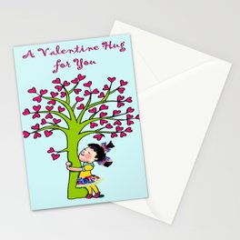 Valentine Hug for you Stationery Cards