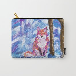 Calm Winter Fox Carry-All Pouch