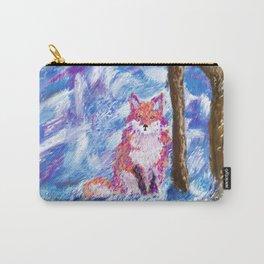 Calm Winter Fox Carry-All Pouch