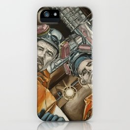 Heisenberg and Jesse, oil painting iPhone Case
