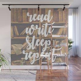 Read Write Sleep Repeat Wall Mural