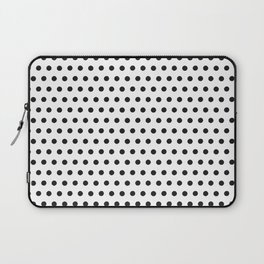 Black white geometrical simple polka dots pattern Laptop Sleeve