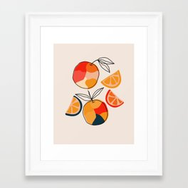 Juicy Citrus Framed Art Print