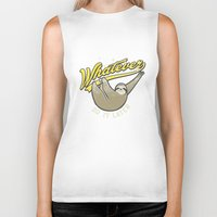 whatever Biker Tanks featuring Whatever by Mathiole