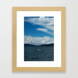 Titicaca lake raft Framed Art Print