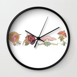 Fungi Faeries Wall Clock