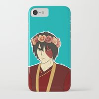 zuko iPhone & iPod Cases featuring FlowerCrown Zuko by Sakizm