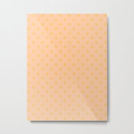 Amber Orange on Deep Peach Orange Snowflakes Metal Print