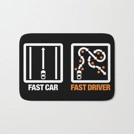 Fast Car - Fast Driver v3 HQvector Bath Mat