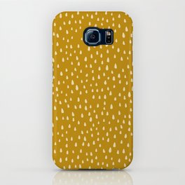 Mustard Paint Drops iPhone Case