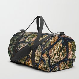 Colorful stainglass pattern Duffle Bag