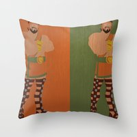 hercules Throw Pillows featuring Hercules by Young Jake