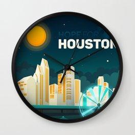 Hope For Houston Wall Clock